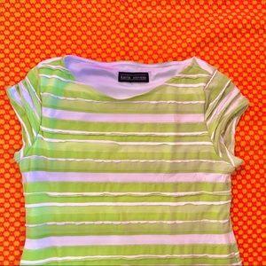 Vintage Dresses - Y2K LIMEY STRIPED DRESS
